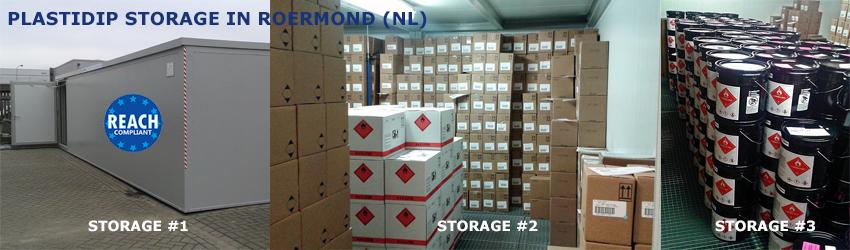 PlastiDip Storage in Roermond (NL)